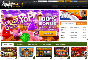 Royaal casino homepage