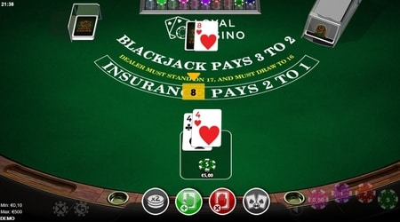 screenshot blackjack splitsen
